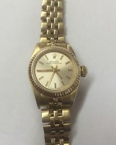 ROLEX Ladies Vintage 14K Gold Oyster Perpetual Automatic 29J Watch 67197 No Rese