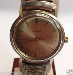Vintage Golden Movado Kingmatic Sea-Sub Golden 16mm Elastic/Stretch Band Working