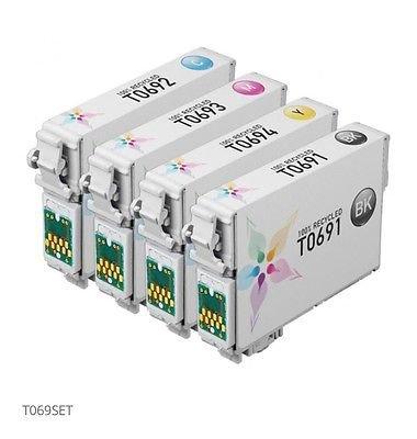 4pk Non OEM Ink Cartridges Epson Stylus WorkForce T0691-T0694 Remanufactured Set