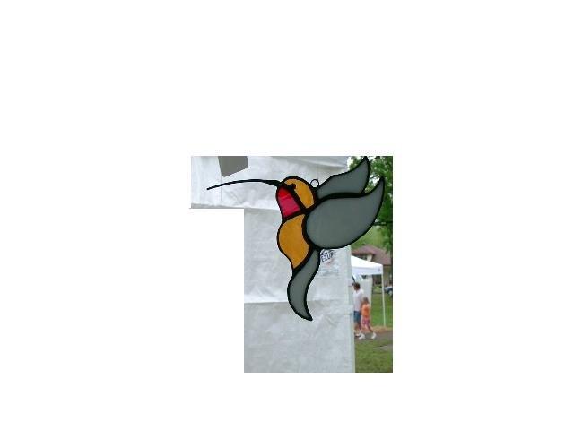 HUMMINGBIRD STAINED GLASS SUNCATCHER HANDCRAFTED