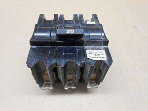 FEDERAL PIONEER NB320 20AMP 3POLE CIRCUIT BREAKER USED *