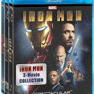 (BRAND NEW) Iron Man: 1,2,3 Movie Collection Blu-ray m32