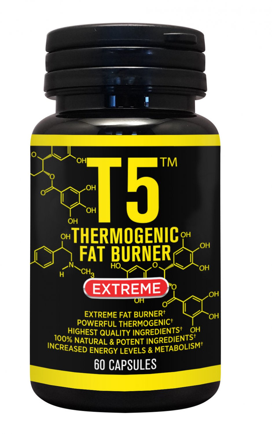 T5 FAT BURNER CAPSULES 3 x BOTTLES � 180 CAPSULES