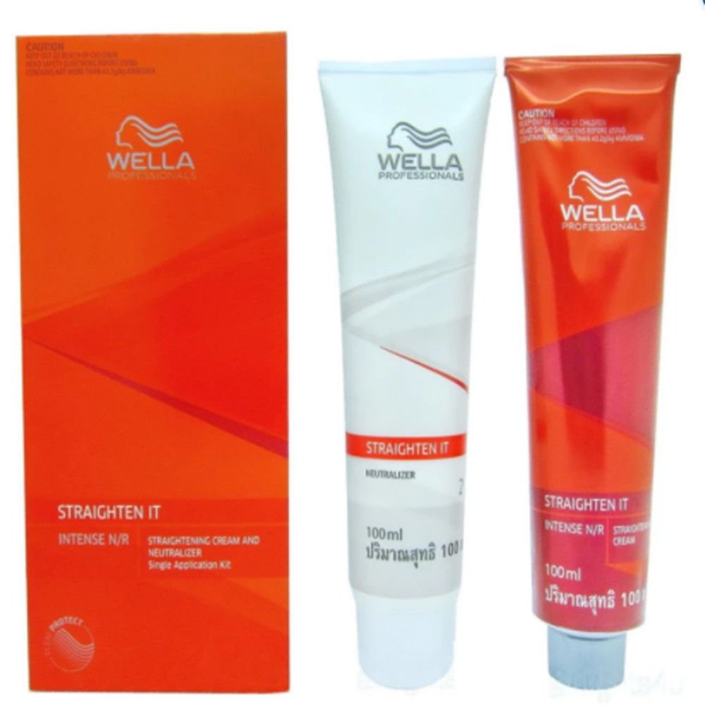 wella cream Kit wellastrate intense hair relaxer permanent hair straightening