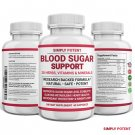 Blood Sugar Supplement for Diabetic Support 600mg 20 Herbs Cinnamon Vitamin C+E