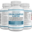 Colon Detox 15 Day Cleanse for Weight Loss w Laxative Fiber Probiotic MCT Oil