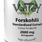 FORSKOLIN EXTRACT 2000mg, STANDARDIZE 100% COLEUS FORSKOHLII WEIGHT LOSS