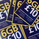 O2 Sim Card Pay As You Go £10 Bundle 02 Triple Cut Sim 6GB 02 Sim Card