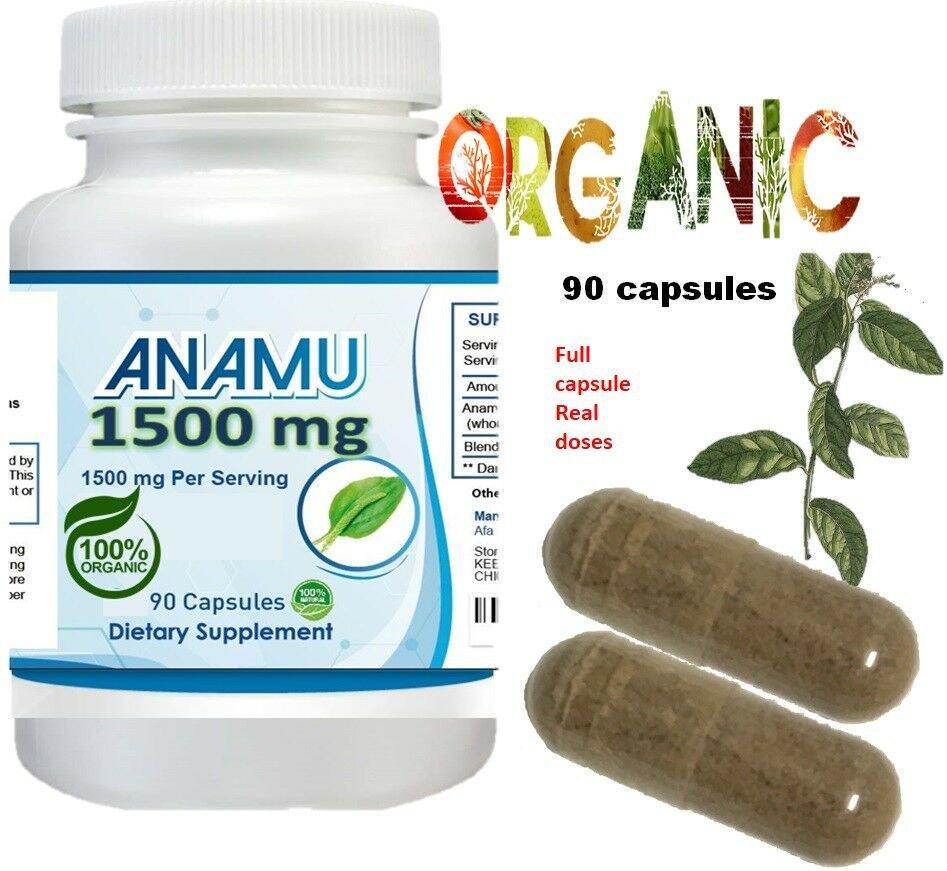 360 Caps ANAMU 1500mg Circulatory System Low Sugar Control 100%
