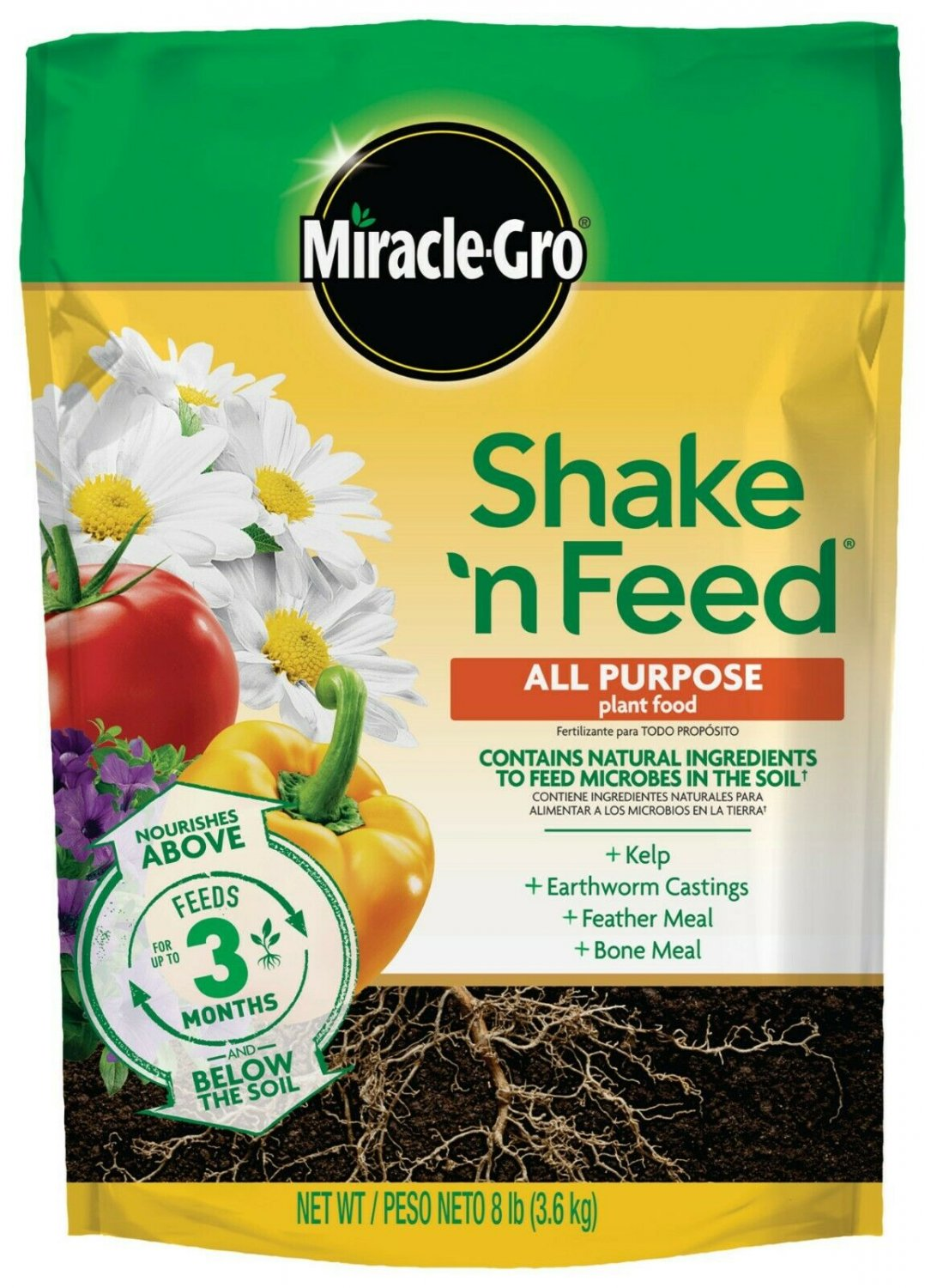 Miracle-Gro Shake 'N Feed All Purpose Plant Food 8 lbs. Covers 320 sq. ft.
