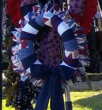 Blue Dot Ribbon Wreath