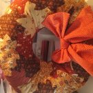 Orange dot ribbon fall wreath