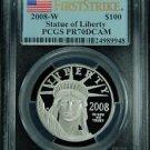2008 W $100 PLATINUM EAGLE FIRST STRIKE PCGS PR70DCAM VERY RARE