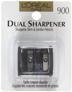 2X L'Oreal Paris Dual Eye/Lipliner Sharpener with Cover New