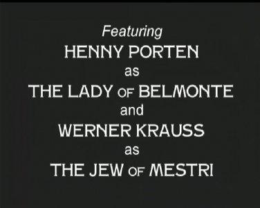 The Jew of Mestri aka Der Kaufmann von Venedig 1923