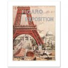 """""""Figaro Exposition"""" Hand Pulled Lithograph by the RE Society Orig. by Grassel"""