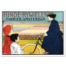 """Hinde Rywielen"" Hand Pulled Lithograph by  RE Society Orig. by Johann George"