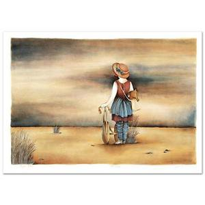 """Our Lost Childhood Days"""" Ltd Ed Lithograph By Haya Ran, Numbered and Hand signed"""