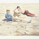 "William Nelson - ""The Beach Combers"" Limited Edition Serigraph, Numbered"