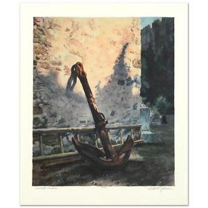 "Rodell Johnson - ""Ancient Anchor"" Limited Edition Lithograph, Numbered, Signed"