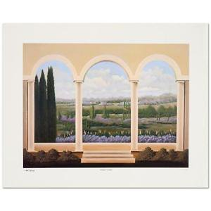 "Steven Lavaggi - ""Tranquil Veranda"" Limited Edition Lithograph, Hand Signed"