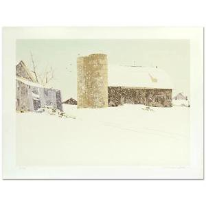 """William Nelson -  """"Blizzard"""" Limited Edition Serigraph, Signed and numbered"""