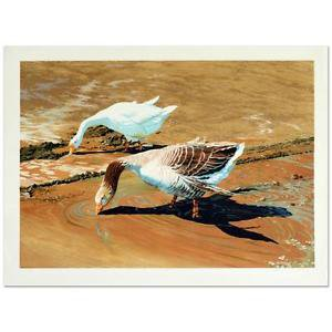 "William Nelson - ""Geese"" Limited Edition Serigraph, Hand Signed by the Artist!"