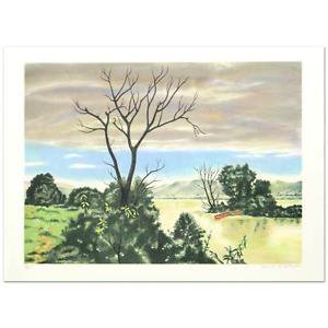 """""""The Marsh"""" Limited Edition Lithograph by Clarence Carter signed w/COA"""