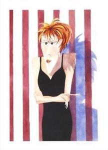 "Renee Steger Simpson! ""Little Black Dress"" Limited Edition Serigraph, Signed"