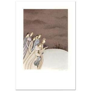 """""""Wedding Musicians"""" Limited Edition Lithograph by Avigail Yoresh  Signed w/COA"""
