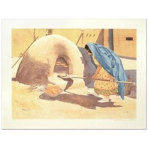 """William Nelson - """"Baking Bread"""" Limited Edition Serigraph"""