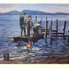 """Hansen's Pier"" LIMITED EDITION Lithograph by William Nelson 159/500 edition"