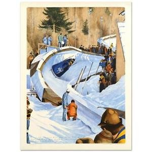 "William Nelson - ""4-Man Bobsled - 1976"" Limited Edition Lithograph,Signed 30/350"