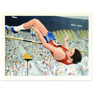 """William Nelson - """"Bruce Jenner's High Jump"""" Limited Edition Serigraph  AP"""