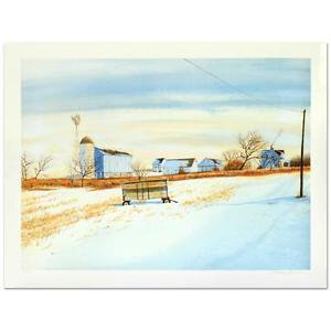 "William Nelson - ""The Lonely Wagon"" Limited Edition Lithograph,"