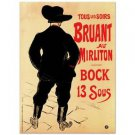 """Bruant au Mirliton"" Lithograph by RE Society Orig by Henri de Toulouse Lautrec"