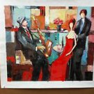 """ Satisfaction "" Embellished Giclee On Canvas by Jacob Chayat Signed"
