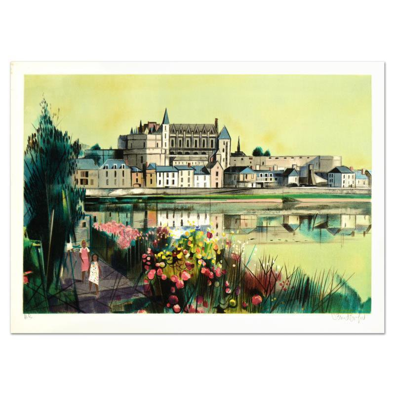 """Robert Vernet Bonfort - """"The River"""" Limited Edition Lithograph, hand signed"""