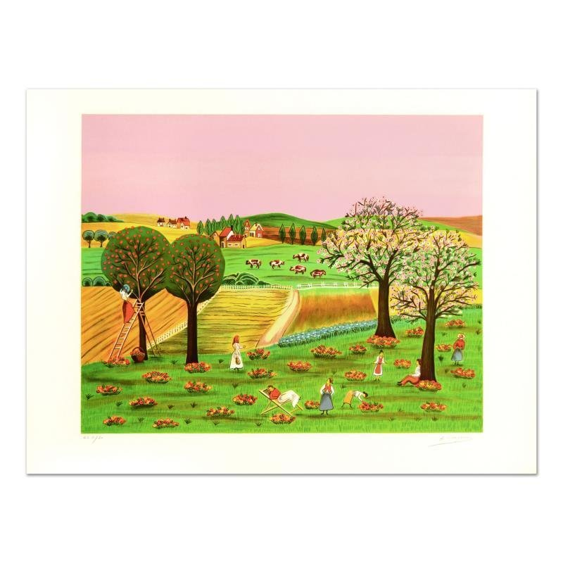 """Colagone - """"Noles D'Aton"""" Limited Edition Lithograph, Numbered and Hand Signed."""