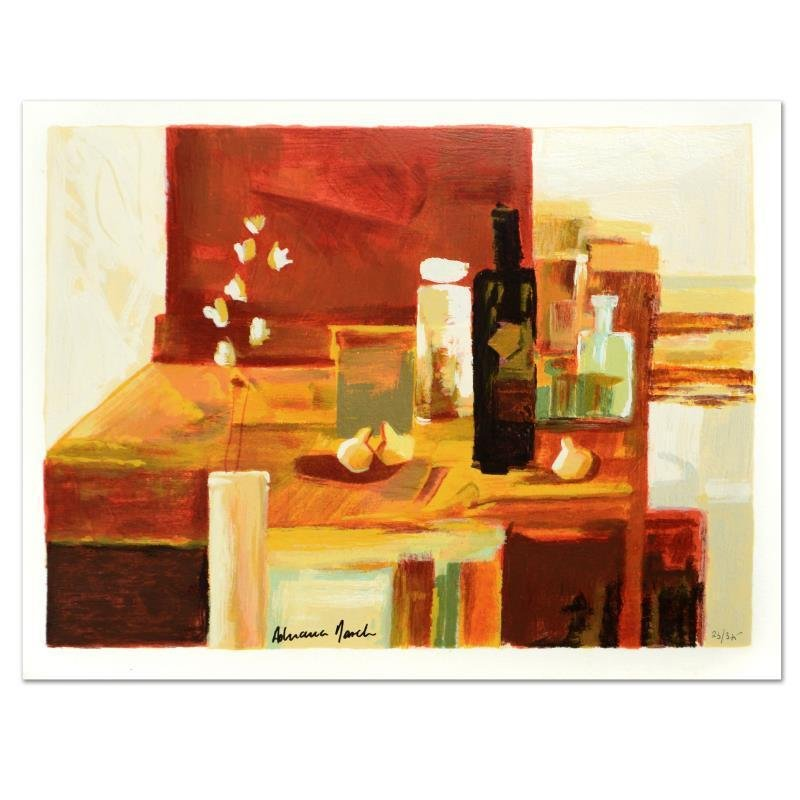 "Adriana Naveh - ""Interior in Red"" Limited Edition Lithograph"