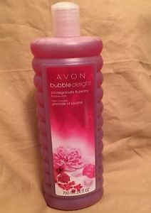 AVON NEW POMEGRANATE PEONY BUBBLE BATH 24fl.oz. Relaxing Pampered MOTHERS DAY
