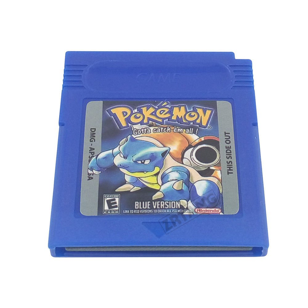 Pokemon Gameboy Color BLUE Version 100% Working and New Battery