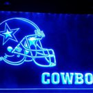 Dallas Cowboys Helmet logo bar beer Club 3d signs led Neon Light Sign b163