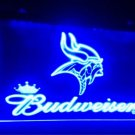 Minnesota Vikings logo Budweiser beer bar pub 3d signs LED Neon Light Signs b211