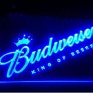 Budweiser logo KING OF Beer Bar Pub Club NEW LED Neon Light Sign b256