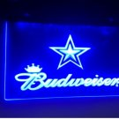 b-79 Dallas Cowboys Budweiser logo Beer Bar Pub Club NEW LED Neon Light Sign