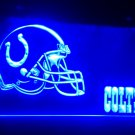 B-203 Indianapolis Colts Helmet Bar LED Neon Light Sign