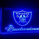 b-77 Budweiser raiders Beer Bar Pub Club NEW LED Neon Light Sign