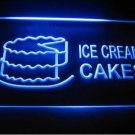 Ice Cream Cakes Logo Beer Bar Pub Light Sign Neon