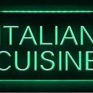 Italian Cuisine Cafe Restaurant LED Light Sign Bar Beer Pub Store